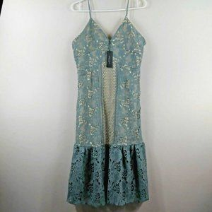 Romeo and Juliet Couture M sage L Dress NWT